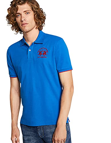La Martina - Herren-Poloshirt Regular fit, Classic Blue, Man