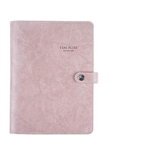 Agenda del Cuaderno 2019 Cubierta de Cuero Retro Vintage Cuaderno de Hojas Sueltas Cuaderno de Notas Papel reemplazable Bloc de Notas de Viajero