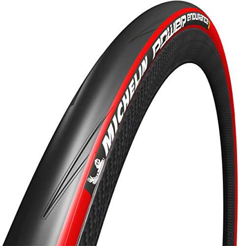 2本セット Michelin(ミシュラン) パワー エンデュランス endurance クリンチャーロードタイヤ (レッド, 700...
