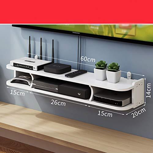 Tablettes flottantes Multifunktionale TV-Set-Top-Box-Rack, Wohnzimmer-Holzplastik-TV-Konsole, Unterhaltungsraum, Büro, moderne Unterhaltungseinheit mit 3 Speicher, Wandhalterung Unterhaltungseinheit é