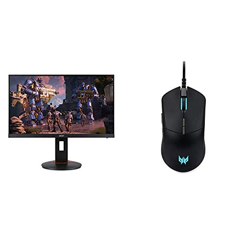 """Acer XF270H Bbmiiprx 27"""" Full HD (1920 x 1080) Zero Frame TN AMD FreeSync with Acer Predator Cestus 330 Gaming Mouse"""