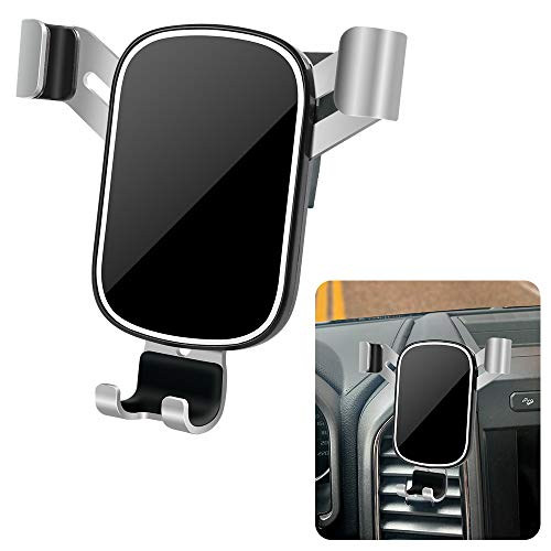 LUNQIN Car Phone Holder for 2018-2021 Ford F-150 [Big Phones with Case Friendly] Auto Accessories Navigation Bracket Interior Decoration Mobile Cell Mirror Phone Mount