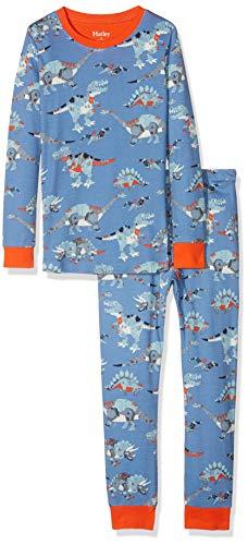 Hatley Jungen Organic Cotton Long Sleeve Printed Pyjama Set Zweiteiliger Schlafanzug, Robotic Dinos, 3 Jahre