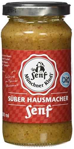 Münchner Kindl Hausmacher Senf süß, 6er Pack (6 x 200 ml)