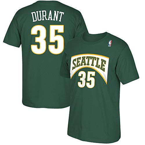 NBA Youth 8-20 Retired All Star Player Name and Number Jersey T-Shirt (Small 8, Kevin Durant Seattle Supersonics)