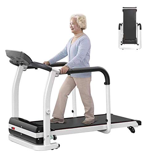 ZJB Elderly Treadmills for Home for Running and Walking with LCD Motorized, Long and Widened Version of Shock-Absorbing Mechanical Folding Treadmill for Gym Home & Office Workout Fitness