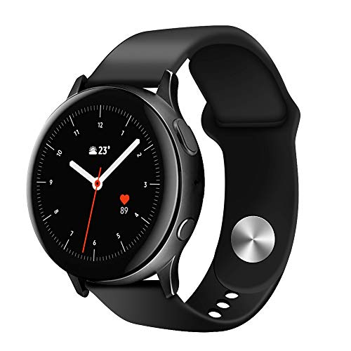 SDTEK Vervangende Siliconen Zachte Polsband Band Compatibel met Samsung Galaxy Watch Active2 40mm