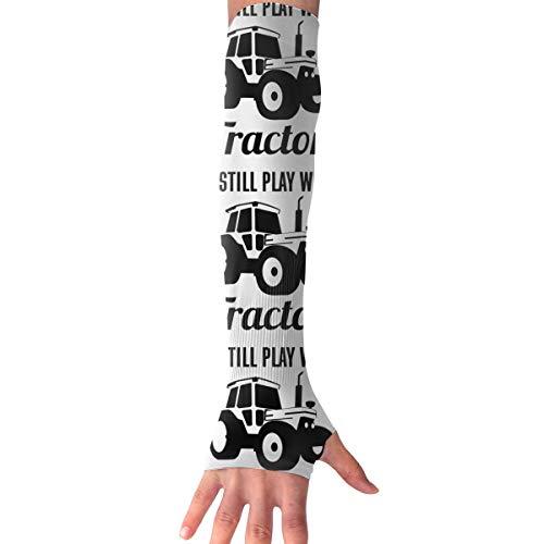 Ich spiele immer noch mit langen fingerlosen Armmanschetten von Traktoren
