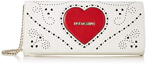 Love Moschino Damen Jc4220pp0a Handtasche, Mehrfarbig (White Multi), 5.5x14x30 Centimeters (W x H x L)