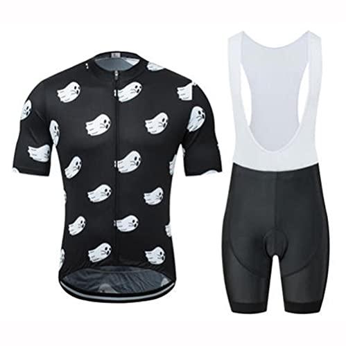 HXTSWGS Maillot Ciclismo, Ropa Ciclismo veranopara Hombre,Rider Monta la Ropa.Ropa de protección Solar Transpirable Que Absorbe la Humedad-A_S