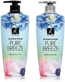[エラスティン] Elastine Perfume PURE BREEZE 4本 セット / シャンプー(600ml) + コンディショナー(600ml) / パフュームピュアブリーズ [並行輸入品] (シャンプー 2本?コンディショナー 2本)
