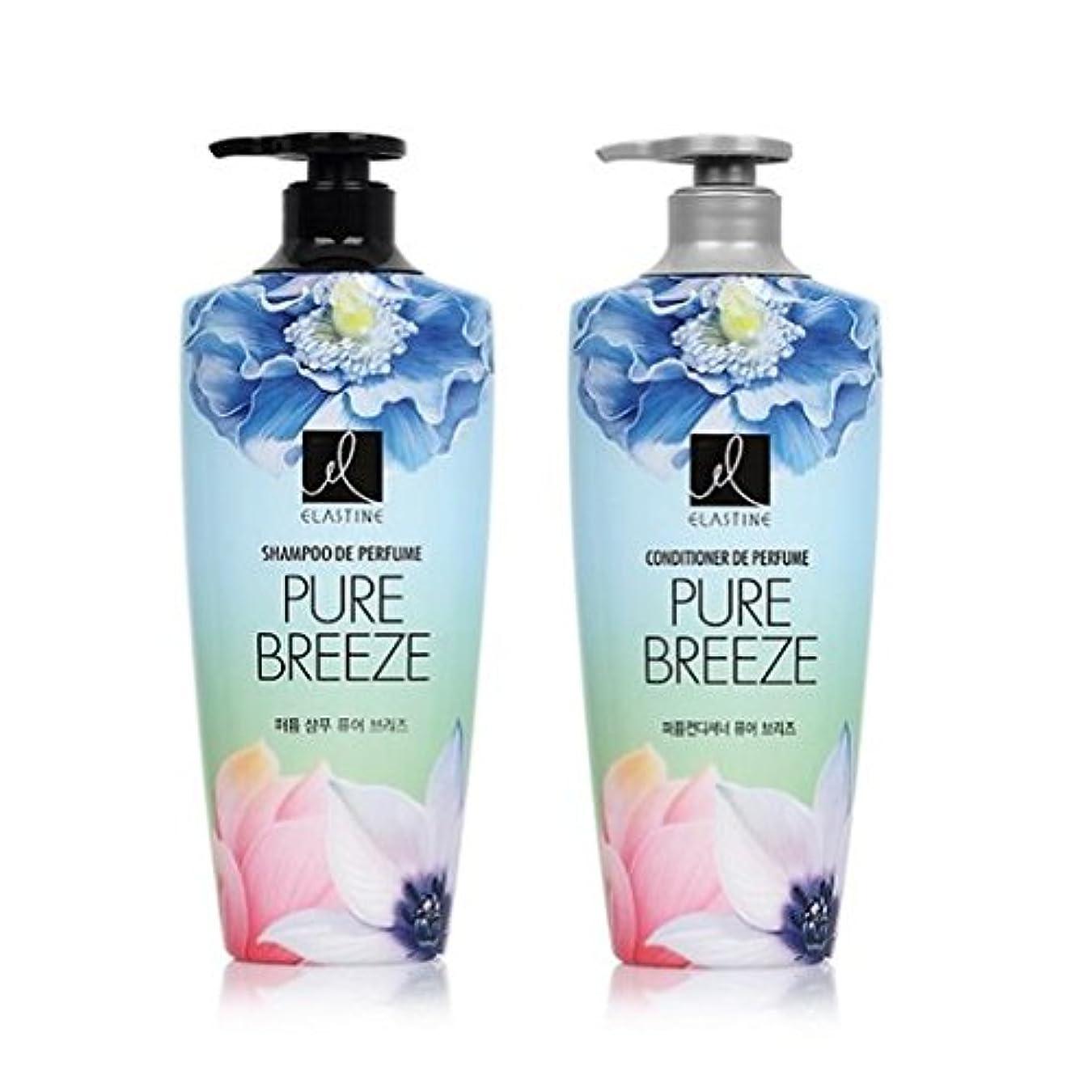 あたり混合したあいまいさ[エラスティン] Elastine Perfume PURE BREEZE 4本 セット / シャンプー(600ml) + コンディショナー(600ml) / パフュームピュアブリーズ [並行輸入品] (シャンプー 2本?コンディショナー 2本)