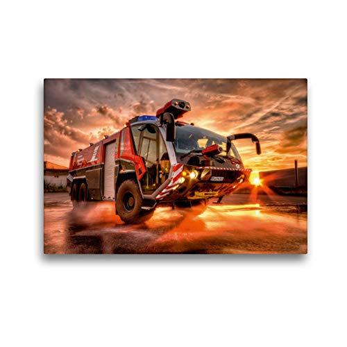 CALVENDO Premium Textil-Leinwand 45 x 30 cm Quer-Format Flugfeldlöschfahrzeug (FLF), Leinwanddruck von Markus Will