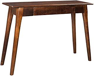 Hunan, Rustic Industrial, Solid Wood, Rectangular, Entryway, Hallway Console Table in Walnut