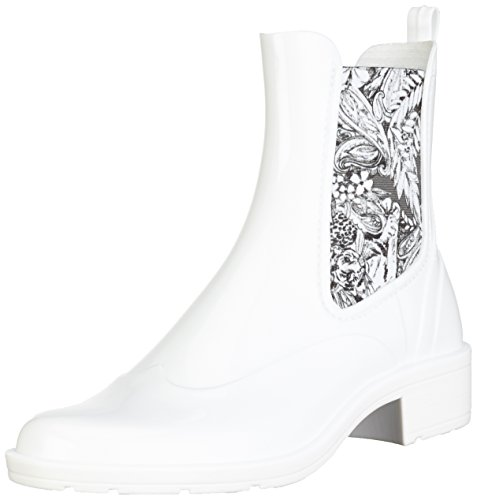 Desigual Ankle Rain Boot Pasley, Stivali di Gomma Donna, Bianco, 36 EU
