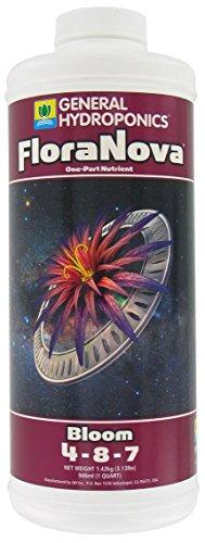 General Hydroponics HGC718810 FloraNova Bloom One-Part Nutrient, Quart
