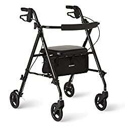 commercial Medline Freedom Lightweight foldable aluminum rollers, 6 inch wheels, … folding rollator lightest one