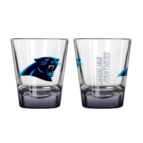 Boelter Brands NFL Carolina Panthers Elite Shot Glass, 2-Ounce, 2-Pack