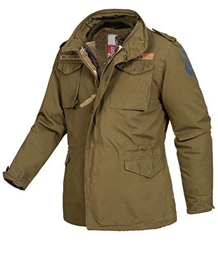 Surplus Raw Vintage Regiment M65 Herren Winter Jacke, Oliv, S