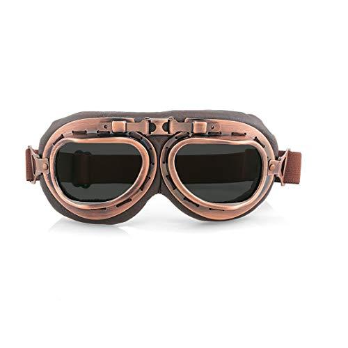 evomosa Gafas de moto Retro a prueba de viento a prueba de polvo Gafas de motocicleta Gafas protectoras (B Color)
