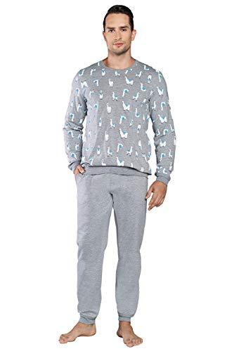 Pijama de Hombre de Dos Piezas de...