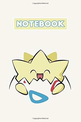 Notebook: Pokemon, Togepi Soft Glossy Cover College Ruled Notebook Lined School Journal 6 x 9 Inches 110 Pages