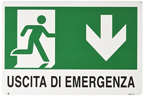 "ist - Carta in PVC \""Uscita Emergen.1\"", 30 x20 cm"