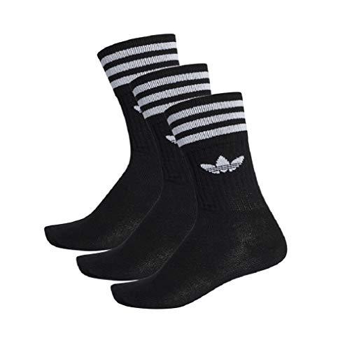 adidas Solid Crew Socks Socken 3er Pack (35-38, schwarz/weiß)