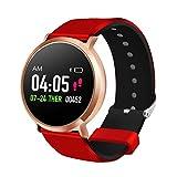 FANPING Bracciale Fitness Impermeabile Fitness Tracker Bracciale Sport Fitness inseguitore di attività con Il pedometro for Smartphone Android, Schermo Tondo (Color : Rose Gold)