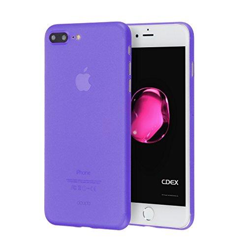 doupi UltraSlim Funda para iPhone 8 Plus / 7 Plus (5,5 Pulgadas), Finamente Estera Ligero Estuche Protección, Morado