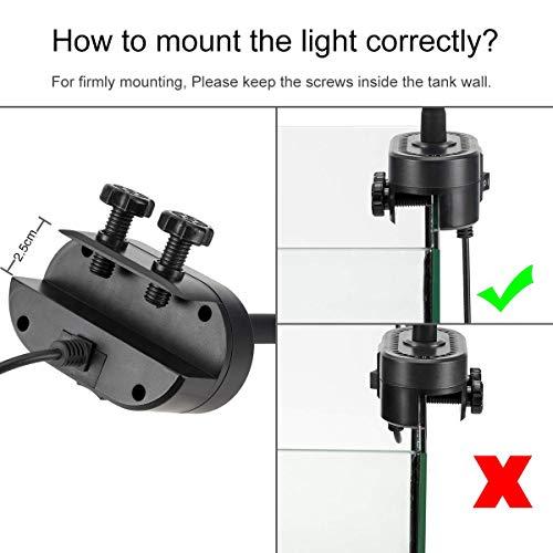 Hygger Lampe LED Aquarium, 21W Lampe à...
