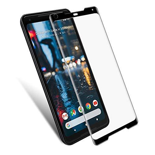 Pixel 2XL - Protector de pantalla de cristal templado, 2 unidades, cristal templado curvado de alta definición transparente, dureza 9H, vidrio templado para Google Pixel 2 XL, [antiarañazos]