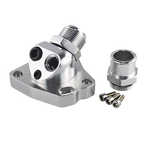 PQYRACING Swivel Neck Thermostat Housing Car Engine Cooling Components for K Series K20 K24 Radiator Hose k swap