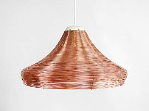 Kupfergeflecht Pendelleuchte Breit - lampe-n hänge-lampe decken-lampe wohnzimmer keramik deko-ration porzellan handarbeit deckenleuchte kupfer-draht wand modern