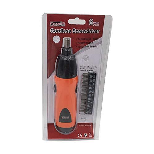 Ndier 11 STK Multifuktion Mini Elektro Schrauber Set AS6NG Alkaline Akkuschrauber Orange 4 AA Batterien erforderlich  Nicht enthalten Home dekor