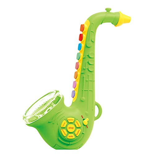 HMANE Saxophone Musical Instrument Toys with Light & Sound Early Education Toy for Boys Girls - Green