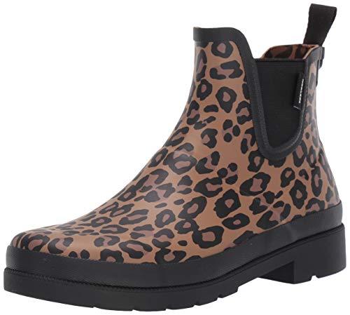 TRETORN Women's LINA2 Rain Boot, Medium Brown Leopard, 8 Medium US