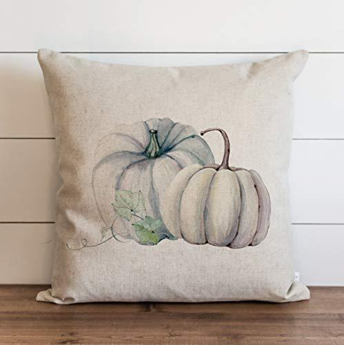 Promini Funda de almohada de otoño con diseño de calabaza, acuarela y otoño, decoración de Acción de Gracias, decoración del hogar, decoración de granja, funda de cojín para sofá cama de 60 x 60 cm