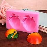 2 Life Peach Styling Cake stampo in silicone – 2 Life Peach Styling cioccolato stampo – 2 forme di pesca vita stampo fai da te – 1 pezzo