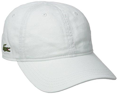 Lacoste Mens Classic Gabardine Cap Baseball Cap, White, One Size