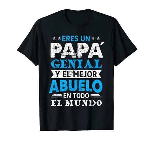 Un Papá Genial Y El Mejor Abuelo En Todo El Mundo Camiseta