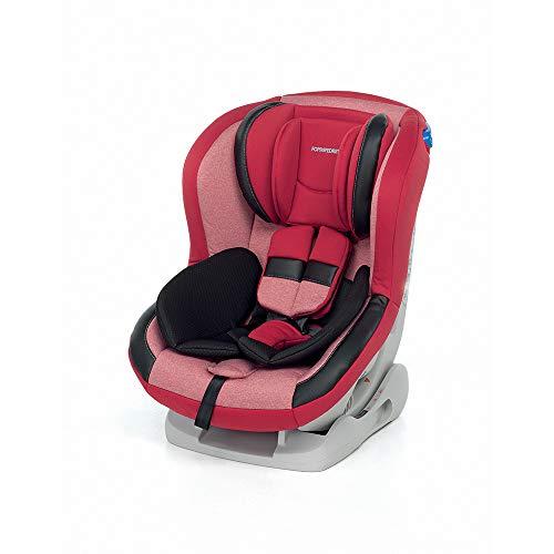 Foppapedretti Mydrive Seggiolino Auto Gruppo 0+/1 (0-18kg), per Bambini dalla Nascita Fino a 4 Anni Circa, Rosso (Cherry)