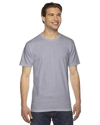 American Apparel 2001W Unisex Fine Jersey Short-Sleeve T-Shirt Slate L