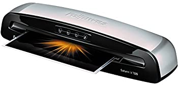 Fellowes 5736606 Laminator Saturn3i 125 12.5 inch Rapid 1 Minute Warm-up Laminating Machine with Laminating Pouches Kit  Silver Black