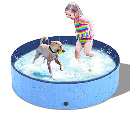 Dono Piscina Perros y Gatos Bañera Plegable, Piscina para Niños,PVC Antideslizante y Resistente al Desgaste (120 x 30 cm)