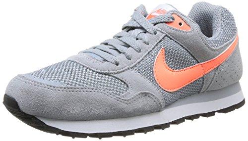 Nike 629635 081 Wmns Md Runner Damen Sportschuhe - Running, Mehrfarbig (Lt Magnet Grey/Brght Mango-Wht), 37.5