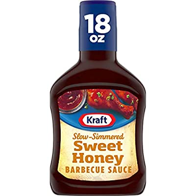 Kraft Barbecue Sauce Slow-Simmered Sauce, Sweet Honey, 18 Ounce