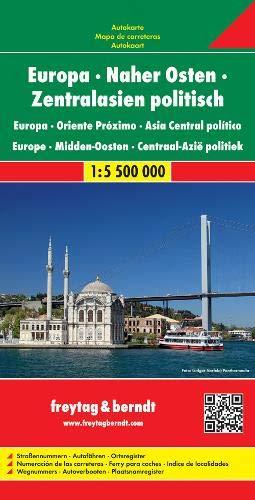 F&B Europa, Midden-Oosten, Centraal-Azië: Wegenkaart 1:5 500 000