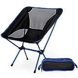 HMX Sillas Plegables portátiles de Camping sillas al Aire Libre de Picnic excursiones de Pesca Deportiva,Silla roja