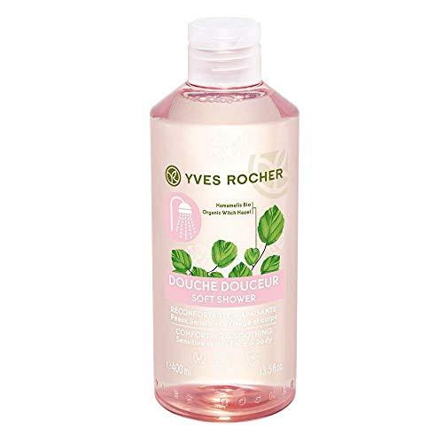 Yves Rocher HAMAMÉLIS mildes Duschgel, sanfte Pflegedusche für empfindliche Haut, für die ganze Familie, 1 x Flacon 400 ml